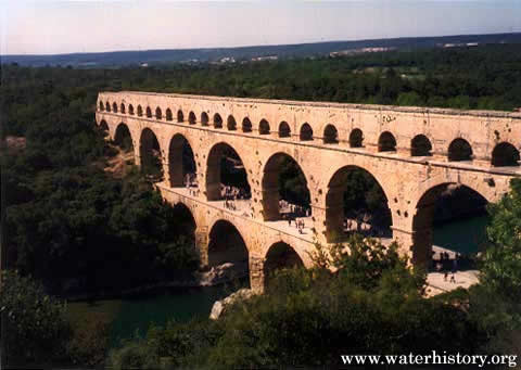 Roman Empire waterway in Nimes